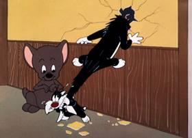 Screenshots from the 1956 Warner Bros. cartoon Too Hop to Handle