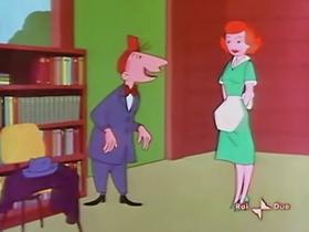 Screenshots from the 1956 Warner Brothers cartoon Mixed Master