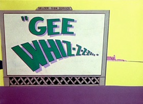 Screenshots from the 1956 Warner Brothers cartoon Gee Whiz-z-z