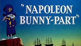 Screenshots from the 1956 Warner Brothers cartoon Napoleon Bunny-Part
