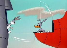 Screenshots from the 1956 Warner Brothers cartoon A Star is Bored