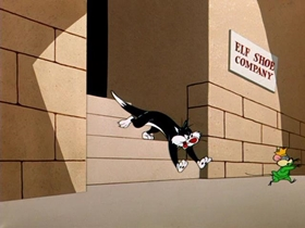 Screenshots from the 1956 Warner Brothers cartoon Yankee Dood It