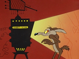 Screenshots from the 1956 Warner Brothers cartoon To Hare is Human