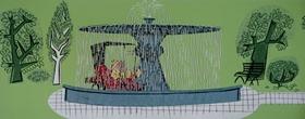 Screenshots from the 1956 UPA cartoon Magoo Goes West