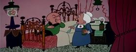 Screenshots from the 1956 UPA cartoon Meet Mother Magoo
