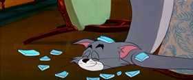 Screenshots from the 1957 MGM cartoon Mucho Mouse