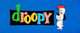 Screenshots from the 1957 MGM cartoon One Droopy Knight
