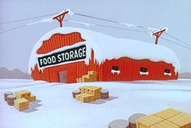 Screenshots from the 1957 Walter Lantz cartoon Operation Cold Feet