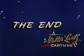 Screenshots from the 1957 Walter Lantz cartoon Round Trip to Mars