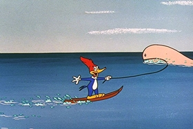 Screenshots from the 1957 Walter Lantz cartoon Dopey Dick the Pink Whale