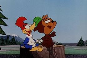 Screenshots from the 1957 Walter Lantz cartoon Fodder and Son