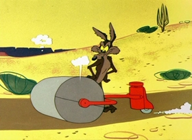 Screenshots from the 1957 Warner Brothers cartoon Scrambled Aches