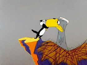 Screenshots from the 1957 Warner Brothers cartoon Go Fly a Kit