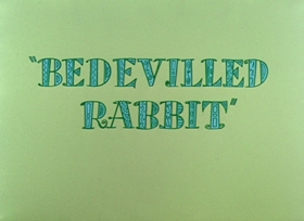 Screenshots from the 1957 Warner Brothers cartoon Bedeviled Rabbit