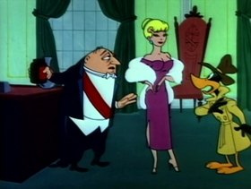 Screenshots from the 1957 Warner Bros. cartoon Boston Quackie