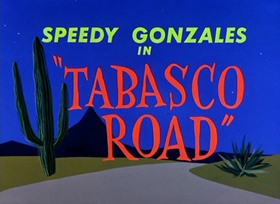 Screenshots from the 1957 Warner Bros. cartoon Tabasco Road