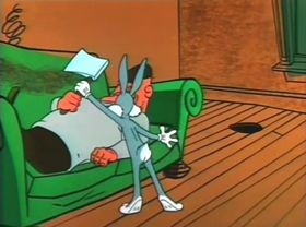 Screenshots from the 1957 Warner Brothers cartoon Bugsy and Mugsy