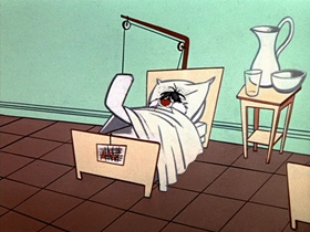 Screenshots from the 1957 Warner Brothers cartoon Greedy for Tweety