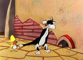 Screenshots from the 1957 Warner Brothers cartoon Gonzales