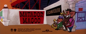 Screenshots from the 1957 UPA cartoon Matador Magoo