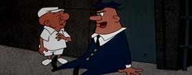 Screenshots from the 1957 UPA cartoon Magoo Breaks Par
