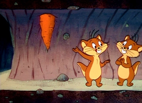 Screenshots from the 1958 Warner Brothers cartoon Gopher Broke