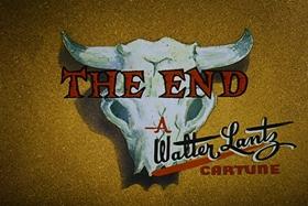 Screenshots from the 1958 Walter Lantz cartoon Half-Empty Saddles