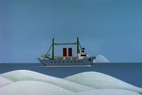 Screenshots from the 1958 Walter Lantz cartoon Chilly Reception