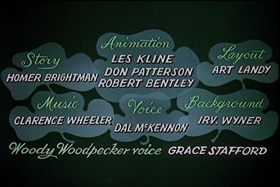 Screenshots from the 1958 Walter Lantz cartoon His Better Elf