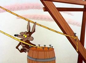 Screenshots from the 1958 Warner Brothers cartoon Whoa, Be-Gone!
