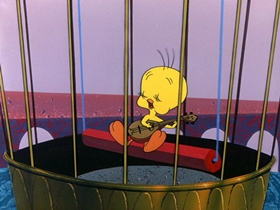 Screenshots from the 1958 Warner Brothers cartoon A Pizza Tweety-Pie
