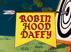 Screenshots from the 1958 Warner Brothers cartoon Robin Hood Daffy