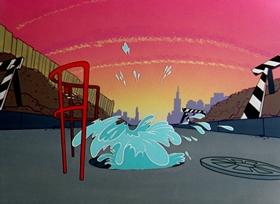 Screenshots from the 1958 Warner Bros. cartoon Hare-Way To The Stars