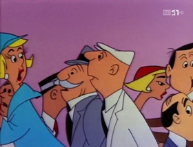 Screenshots from the 1958 Warner Brothers cartoon A Waggily Tale