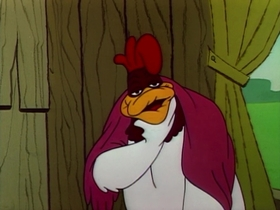 Screenshots from the 1958 Warner Bros. cartoon Feather Bluster
