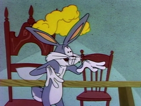 Screenshots from the 1958 Warner Brothers cartoon Now Hare This