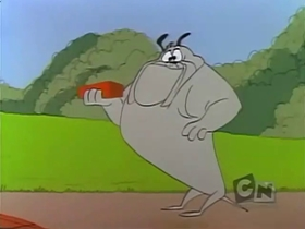 Screenshots from the 1958 Warner Brothers cartoon To Itch His Own