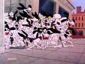 Screenshots from the 1958 Warner Brothers cartoon Dog Tales
