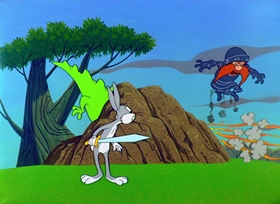 Screenshots from the 1958 Warner Brothers cartoon Knighty Knight Bugs