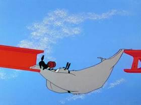 Screenshots from the 1958 Warner Brothers cartoon Cat Feud