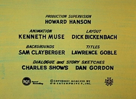 Screenshots from the 1958 Hanna-Barbera cartoon Two Corny Crows