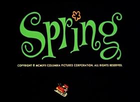 Screenshots from the 1958 UPA cartoon Spring and Saganaki