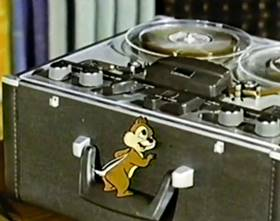 Screenshots from the 1959 Disney cartoon The Adventures of Chip