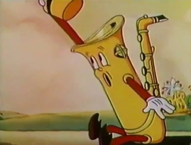 Screenshots from the 1959 Disney cartoon Toot, Whistle, Plunk and Boom