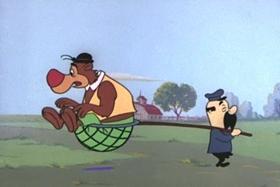 Screenshots from the 1959 Walter Lantz cartoon Truant Student