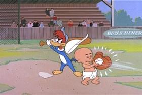 Screenshots from the 1959 Walter Lantz cartoon Kiddie League