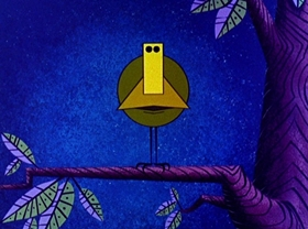 Screenshots from the 1959 Disney cartoon Donald in Mathmagicland