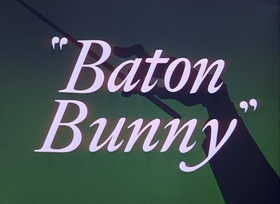 Screenshots from the 1959 Warner Bros. cartoon Baton Bunny