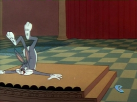 Screenshots from the 1959 Warner Brothers cartoon Hare-Abian Nights