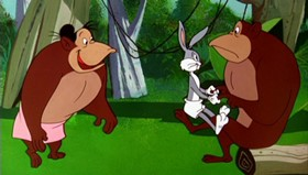 Screenshots from the 1959 Warner Brothers cartoon Apes of Wrath